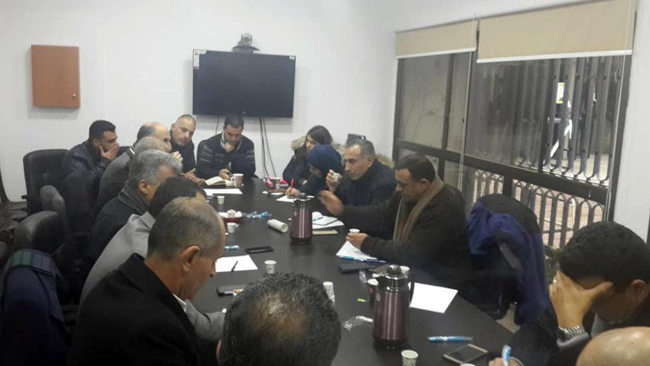 اجتماع مجلس اتحاد نقابات العاملين في الجامعات