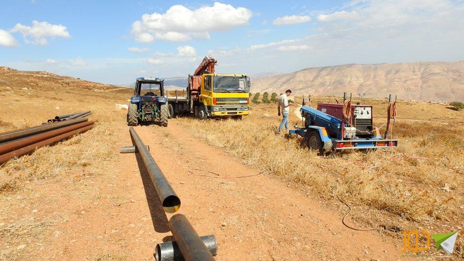 خط ناقل لحل أزمة المياه شرق نابلس