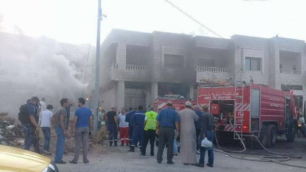 10 إصابات في حريق شرقي نابلس