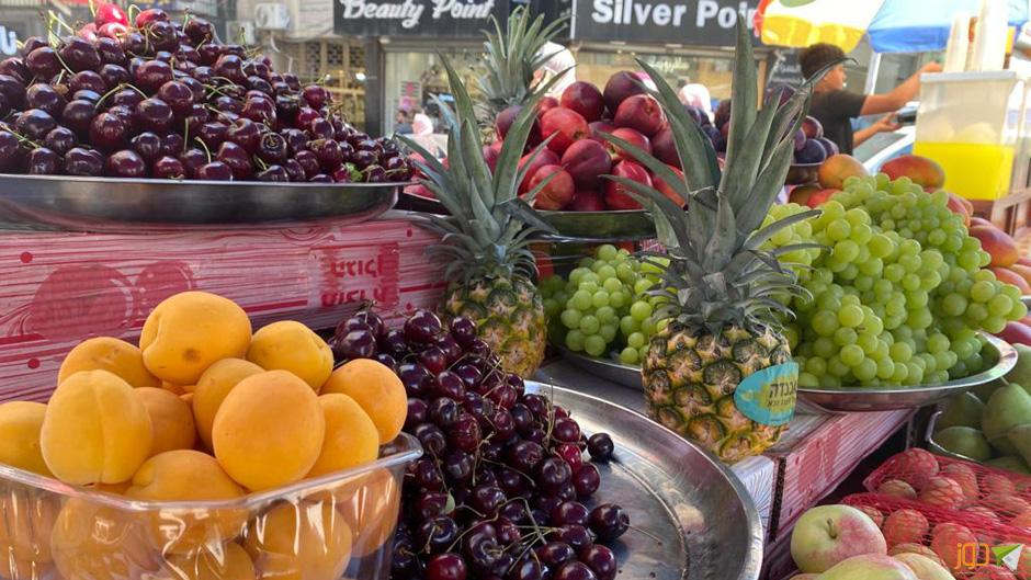 الفواكة الصيفية في أسواق نابلس
