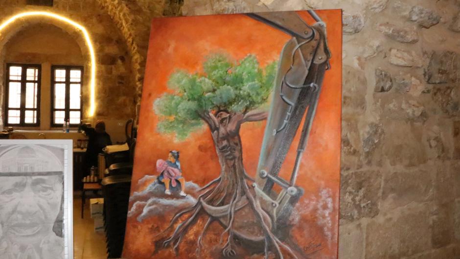 دعوة لحضور المعرض الفني الجماعي في نابلس
